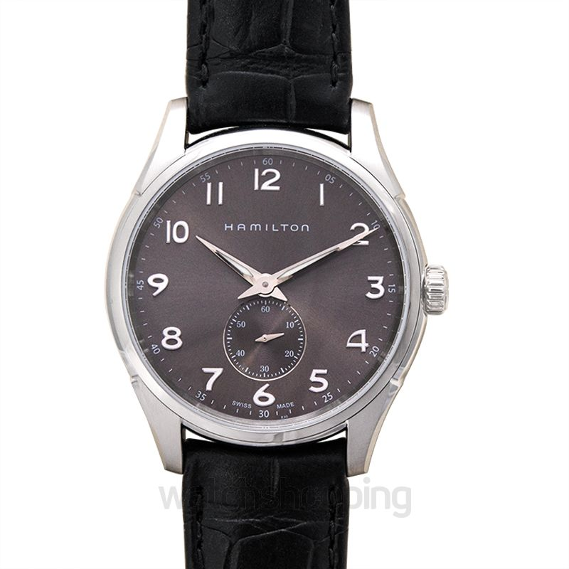 Hamilton Hamilton Jazzmaster Grey Dial Black Leather Men's Watch H38411783