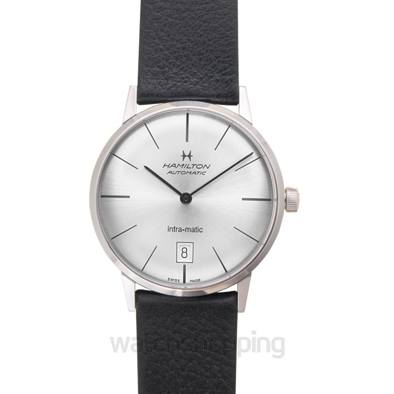 Hamilton Hamilton Intra-Matic Silver Dial Leather Men's Watch H38455751