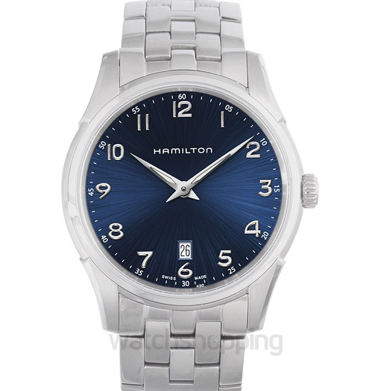 6e0a55325d7 New Jazzmaster Thinline Blue Dial Stainless Steel Men s Watch H38511143 Hamilton  Jazzmaster Watch