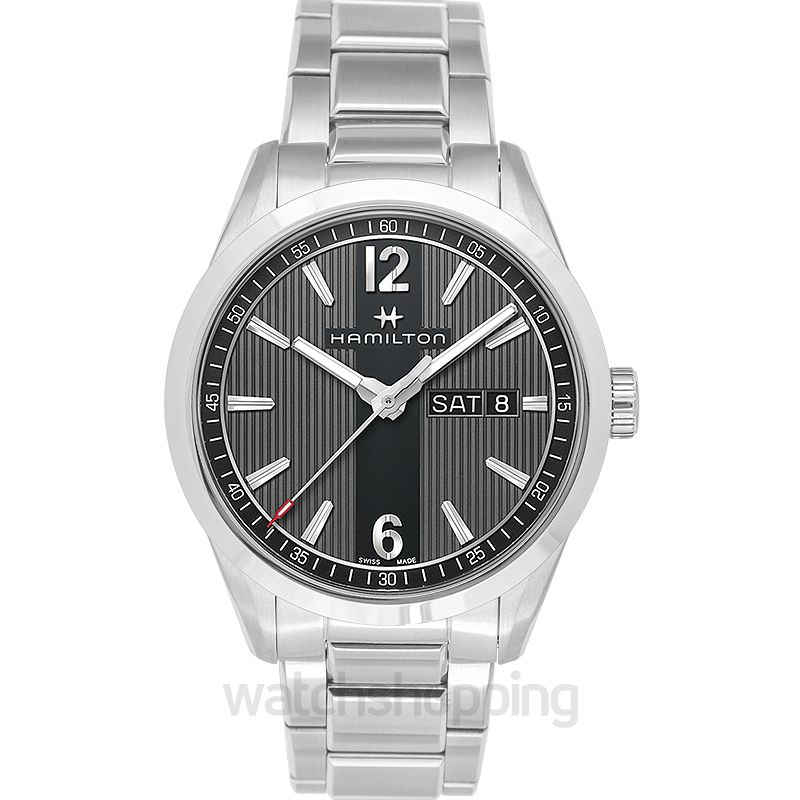 Hamilton Broadway Quartz Grey Dial Stainless Steel Men's Watch