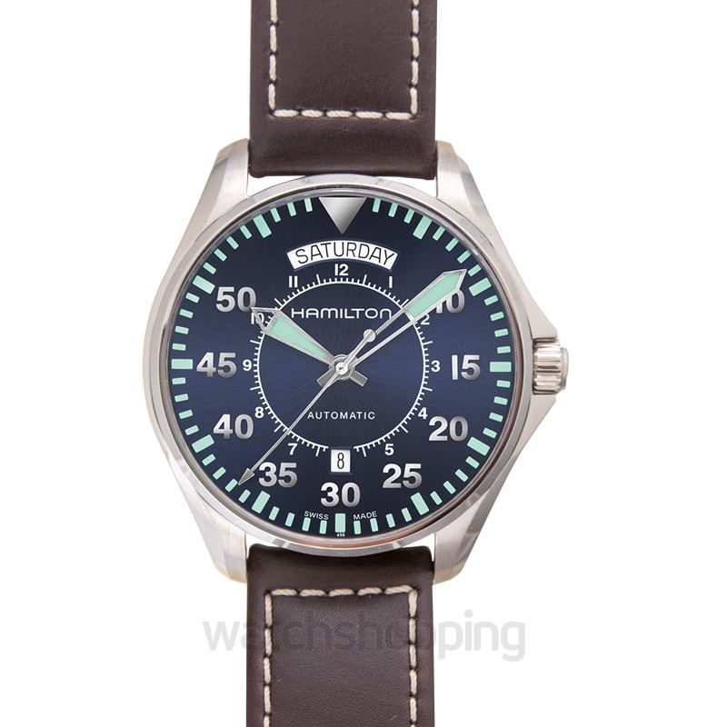 Hamilton Khaki Aviation Automatic Blue Dial Stainless Steel Men's Watch