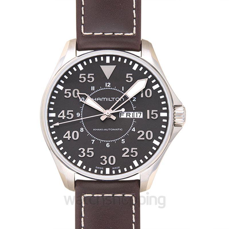 Hamilton Khaki Aviation Automatic Black Dial Stainless Steel Men's Watch
