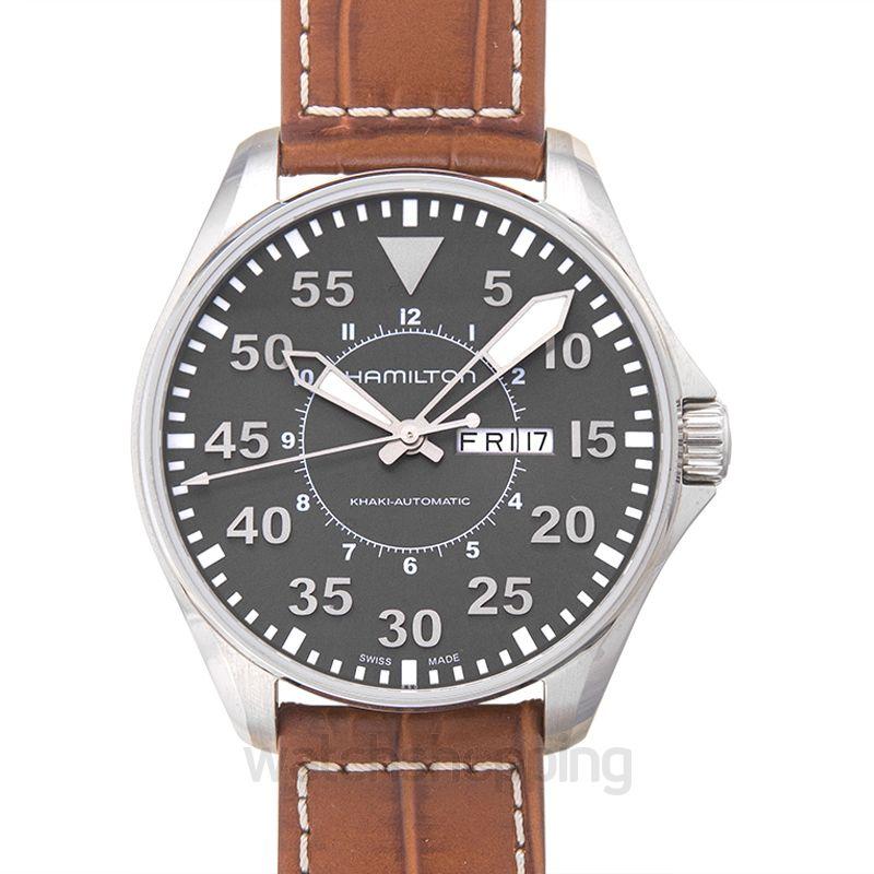 Hamilton Khaki Aviation Automatic Grey Dial Stainless Steel Men's Watch