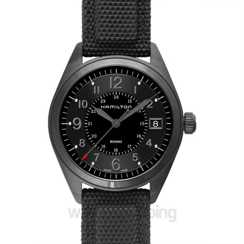 Hamilton Hamilton Khaki Field Black Dial Black PVD Men's Watch H68401735