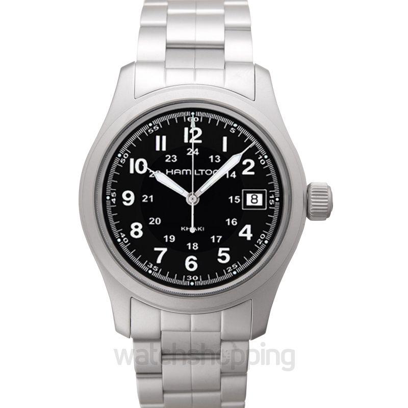 Hamilton Khaki Field Quartz Black Dial Men's Watch