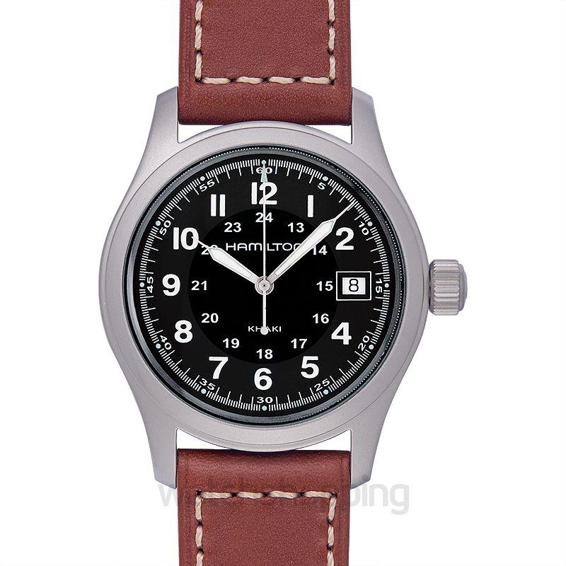 Hamilton Khaki Field Quartz Black Dial Stainless Steel Men's Watch