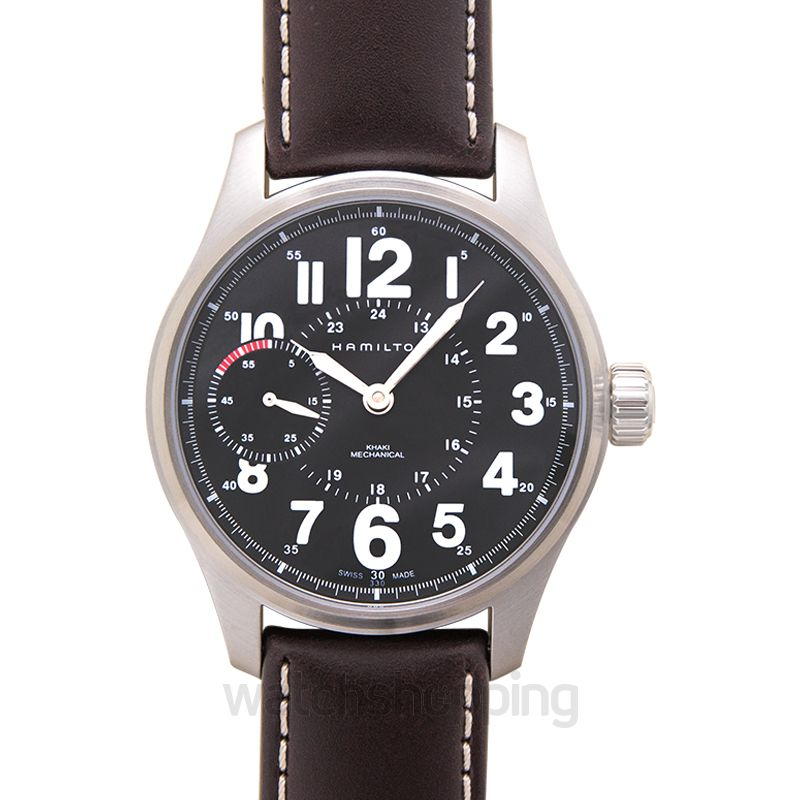 Hamilton Khaki Field Manual-winding Black Dial Stainless steel Men's Watch