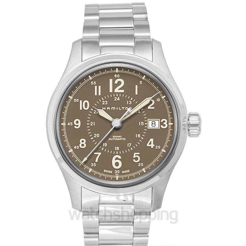 9d02db8ed New Hamilton Khaki Field Automatic Brown Dial Men's Watch H70305193 ...