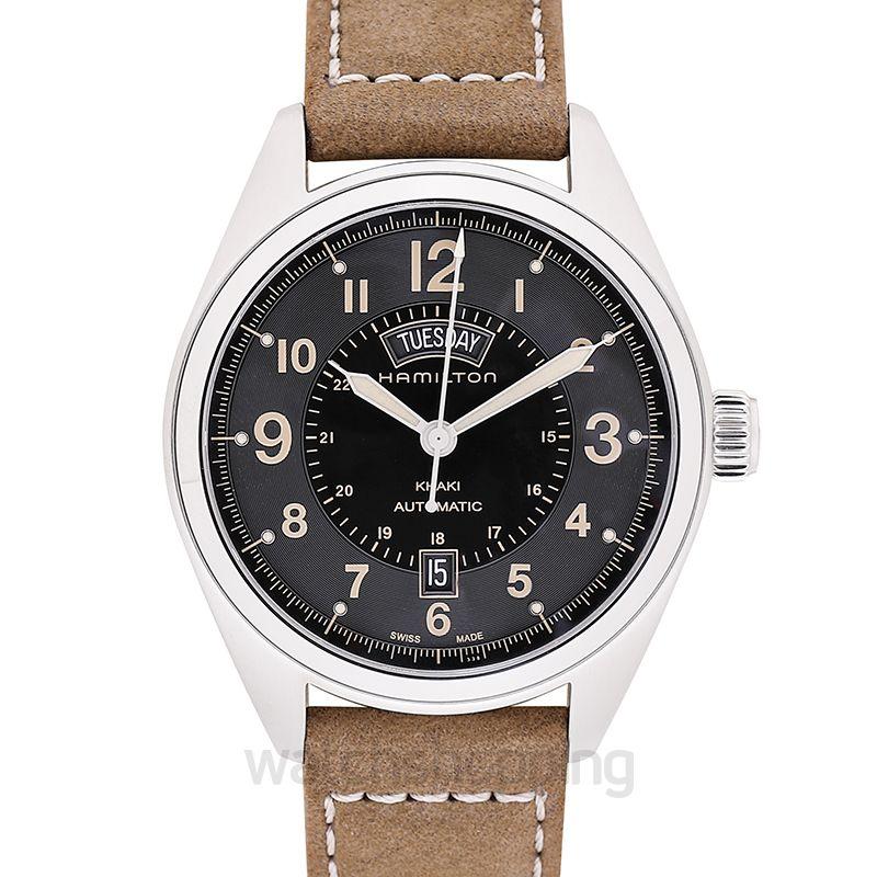 07e7be300 New Hamilton Khaki Field Automatic Black Dial Men's Watch H70505833 ...