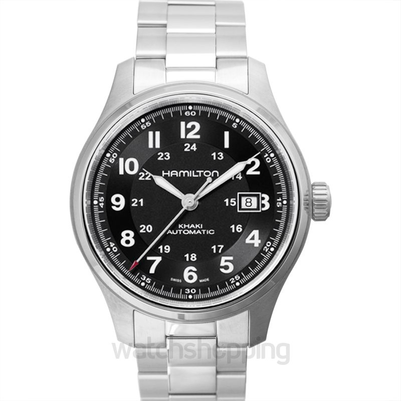 Hamilton Khaki Field Automatic Black Dial Titanium Men's Watch