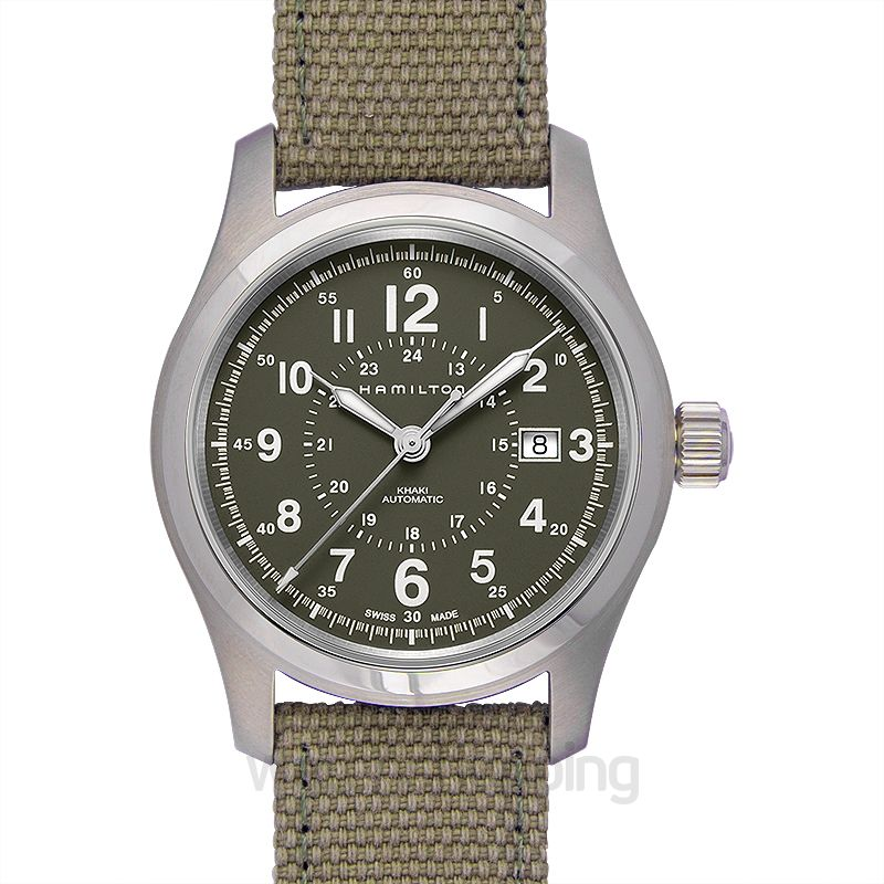 Hamilton Khaki Field Automatic Green Dial Stainless Steel Men's Watch