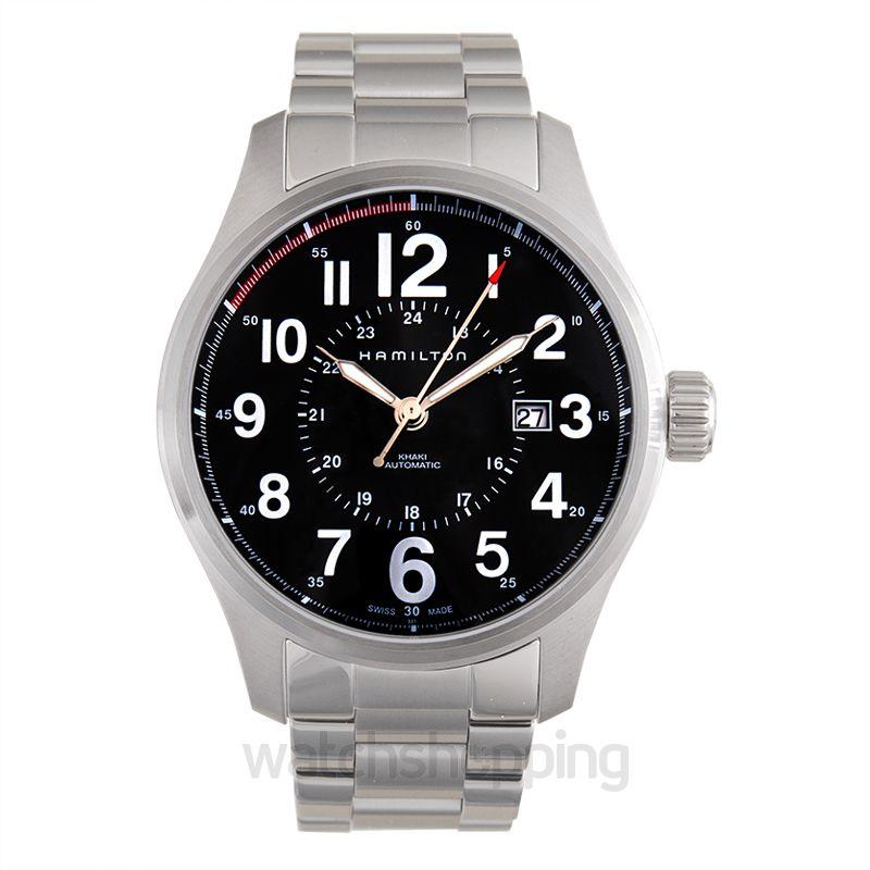 Hamilton Khaki Field Automatic Black Dial Men's Watch