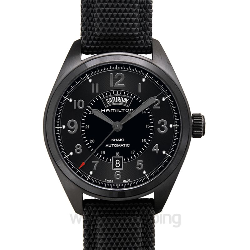 Hamilton Khaki Field Automatic Black Dial Stainless steel Men's Watch