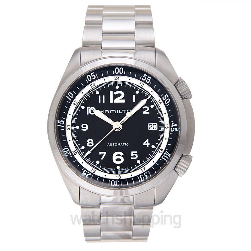 Hamilton Khaki Aviation Automatic Black Dial Aluminium Men's Watch