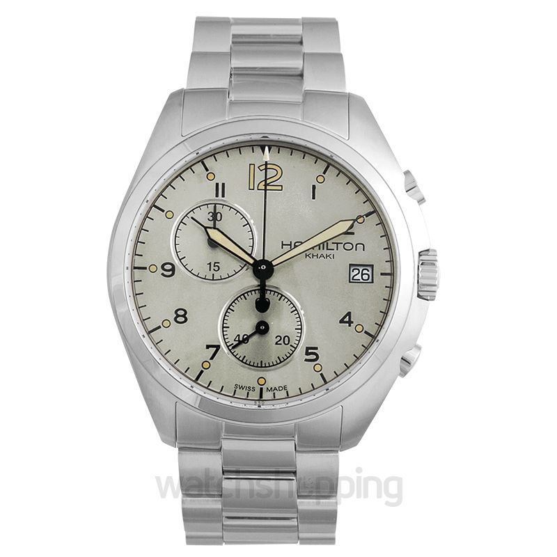 Hamilton Khaki Aviation Quartz Beige Dial Stainless Steel Men's Watch