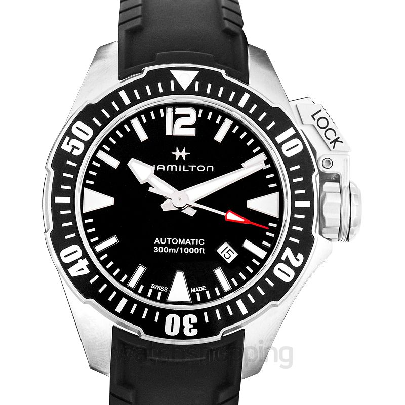Hamilton Khaki Navy Automatic Black Dial Stainless Steel Men's Watch