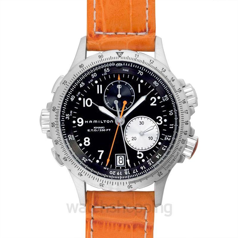 Hamilton Khaki Aviation Quartz Black Dial Men's Watch