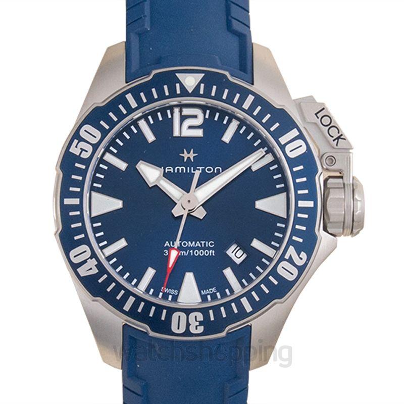 Hamilton Hamilton Khaki Navy Frogman Automatic Blue Dial Men's Watch H77705345