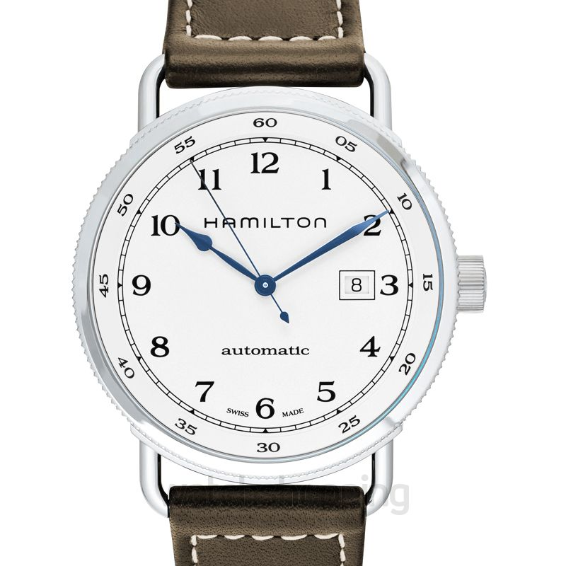 Khaki Navy Automatic Silver Dial Stainless Steel Men S Watch
