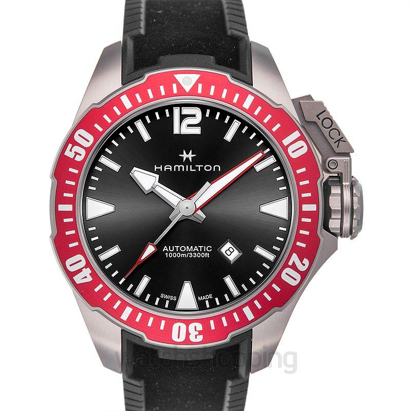 Hamilton Khaki Navy Automatic Black Dial Titanium Men's Watch