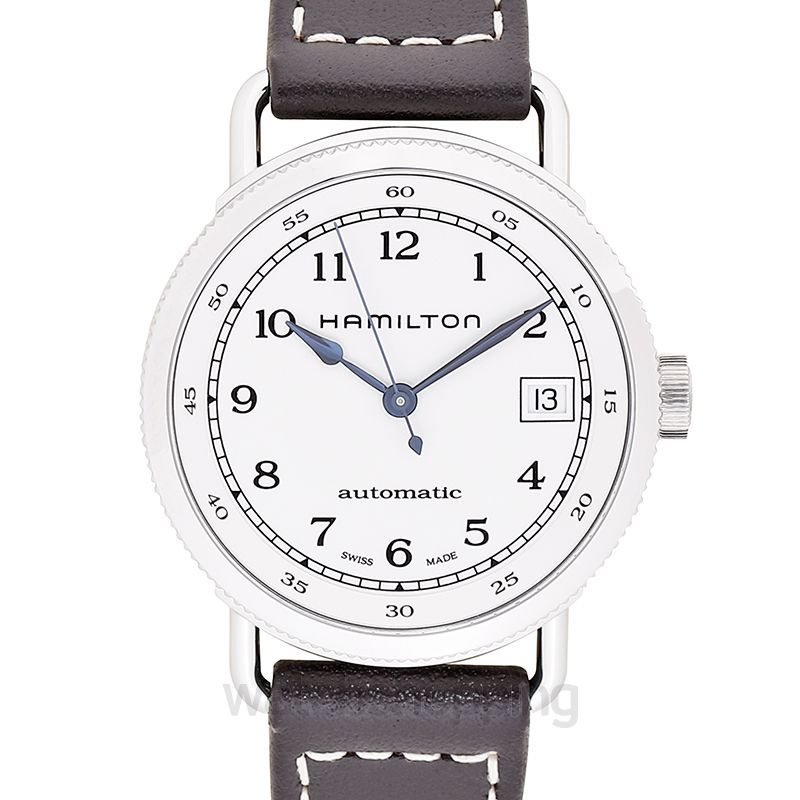 Khaki Navy Automatic Silver Dial Stainless Steel Ladies Watch