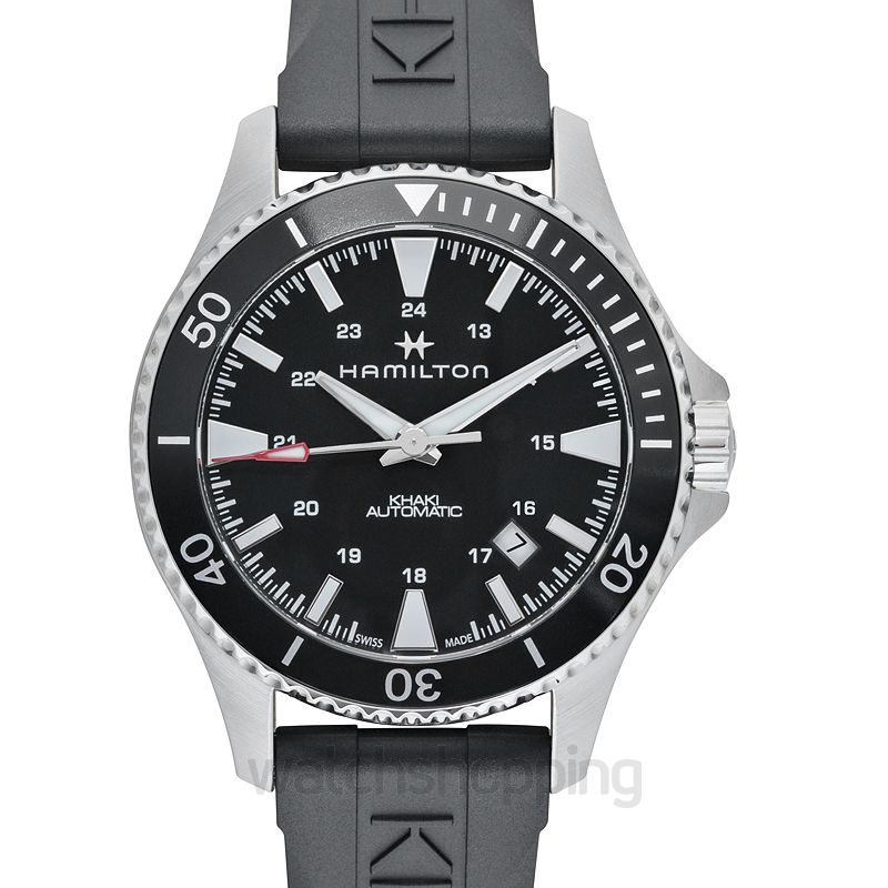 Khaki Navy Automatic Black Dial Stainless Steel Men S Watch