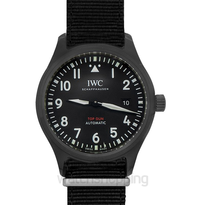 IWC Pilot's Watch Automatic Top Gun Automatic Black Dial Men's Watch
