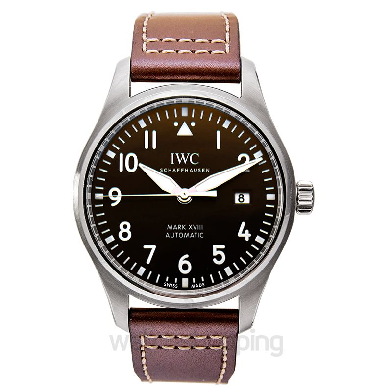 "IWC Pilot's Watch Mark XVIII Edition ""Antoine De Saint Exupéry"" Automatic Brown Dial Men's Watc"