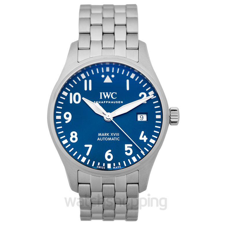 "IWC Pilot's Watch Mark XVIII Edition ""Le Petit Prince"" Automatic Blue Dial Men's Watch"
