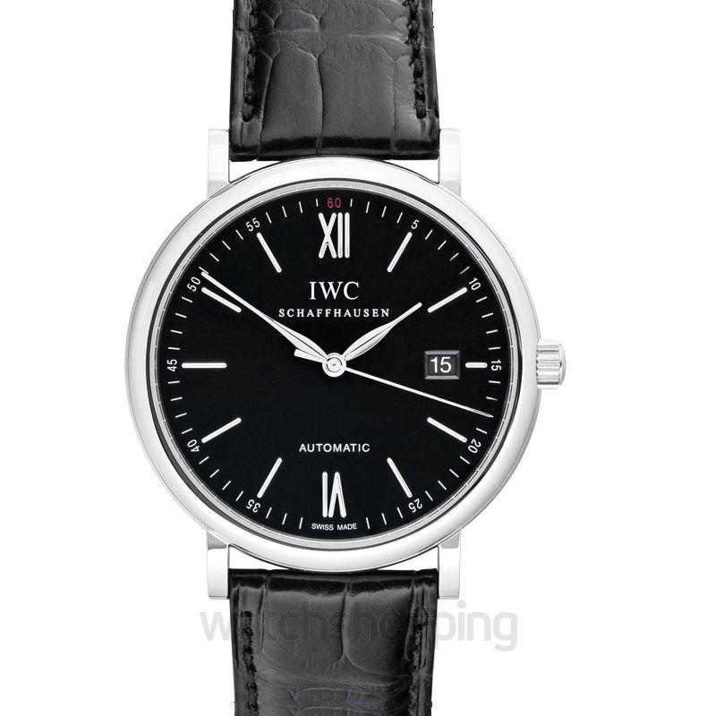 IWC Portofino Automatic Black Dial Men's Watch