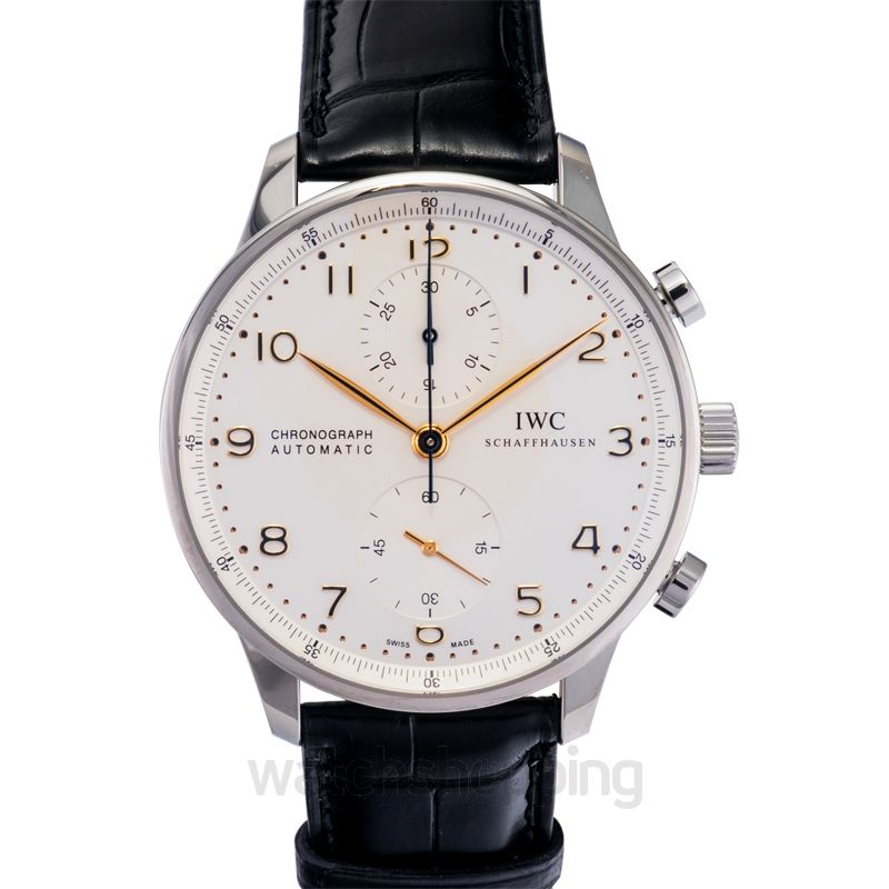 IWC IWC Portuguese Chronograph Silver Dial Men's Watch 3714-45