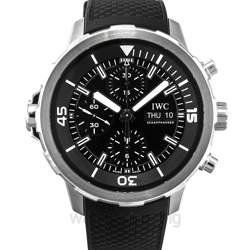 IWC Aquatimer Chronograph Stainless Steel / Black / Rubber