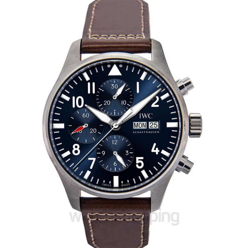 IWC IWC Pilot Midnight Automatic Chronograph Blue Dial Men's Watch IW377714
