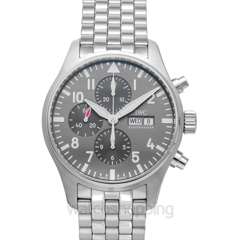 IWC Pilot's Watch Chronograph Spitfire Automatic Grey Dial Unisex Watch