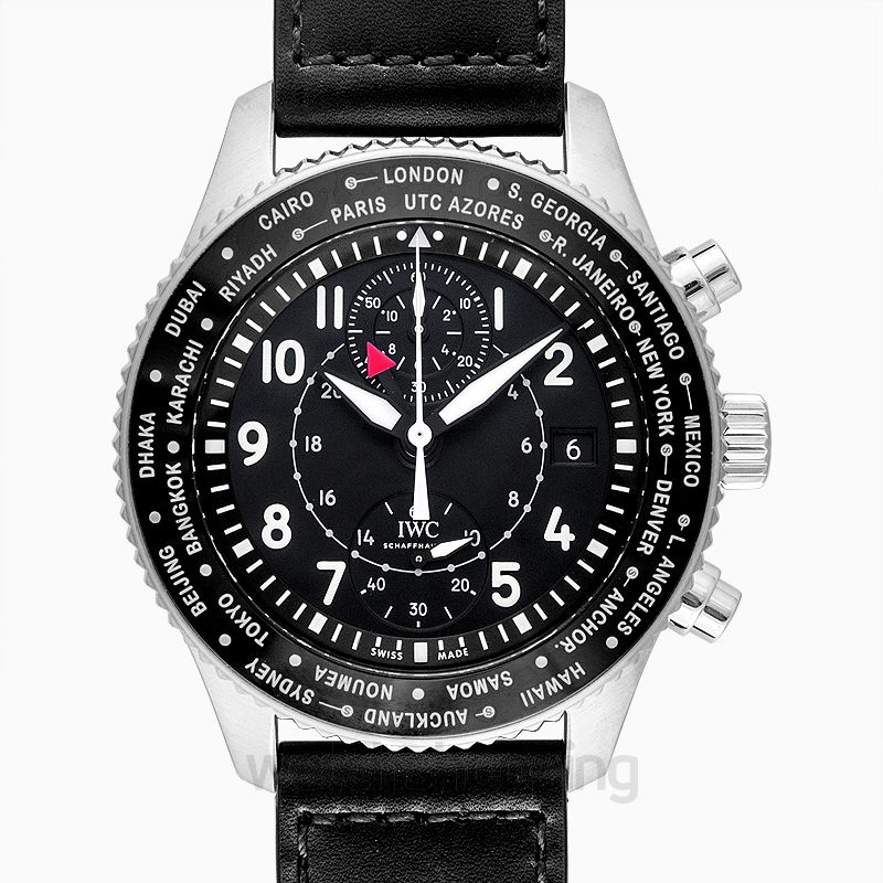 IWC Pilot's Watch Timezoner Chronograph Automatic Black Dial Men's Watch