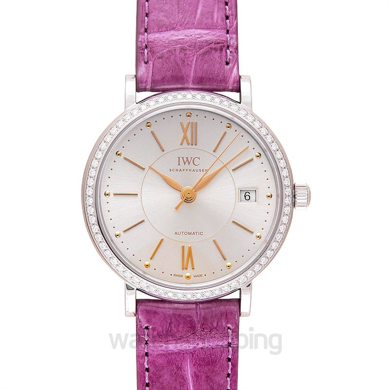 IWC Portofino Automatic Silver Dial Diamonds Ladies Watch