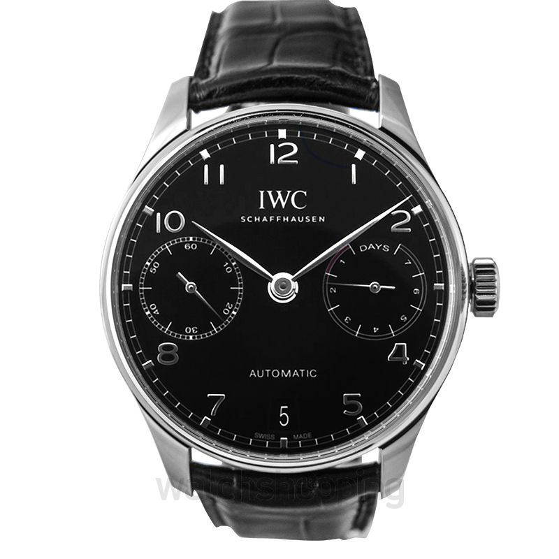 IWC Portugieser Automatic Black Dial Men's Watch
