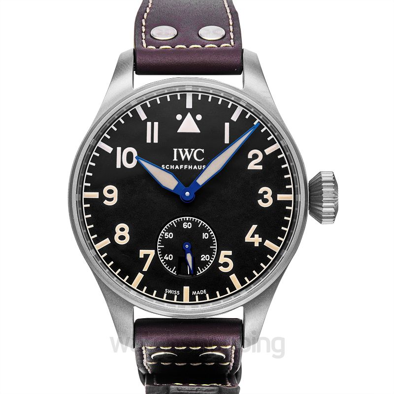 IWC Pilot Manual-winding Black Dial Men's Watch