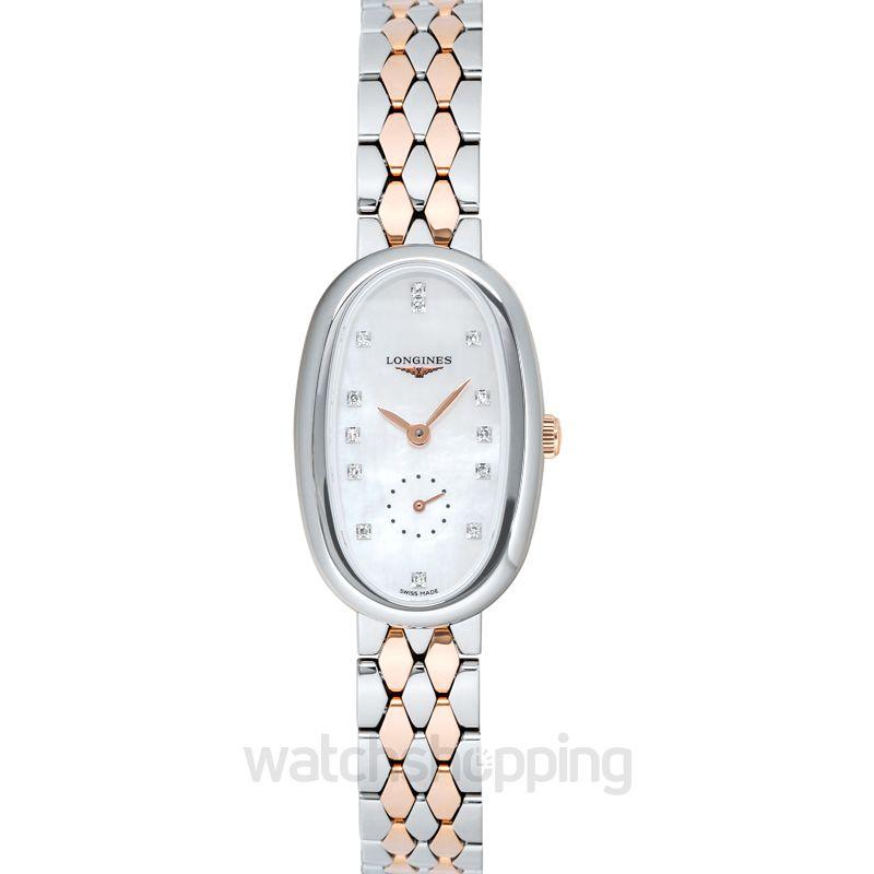 Longines Symphonette Quartz Mother of Pearl Dial Diamond Ladies Watch