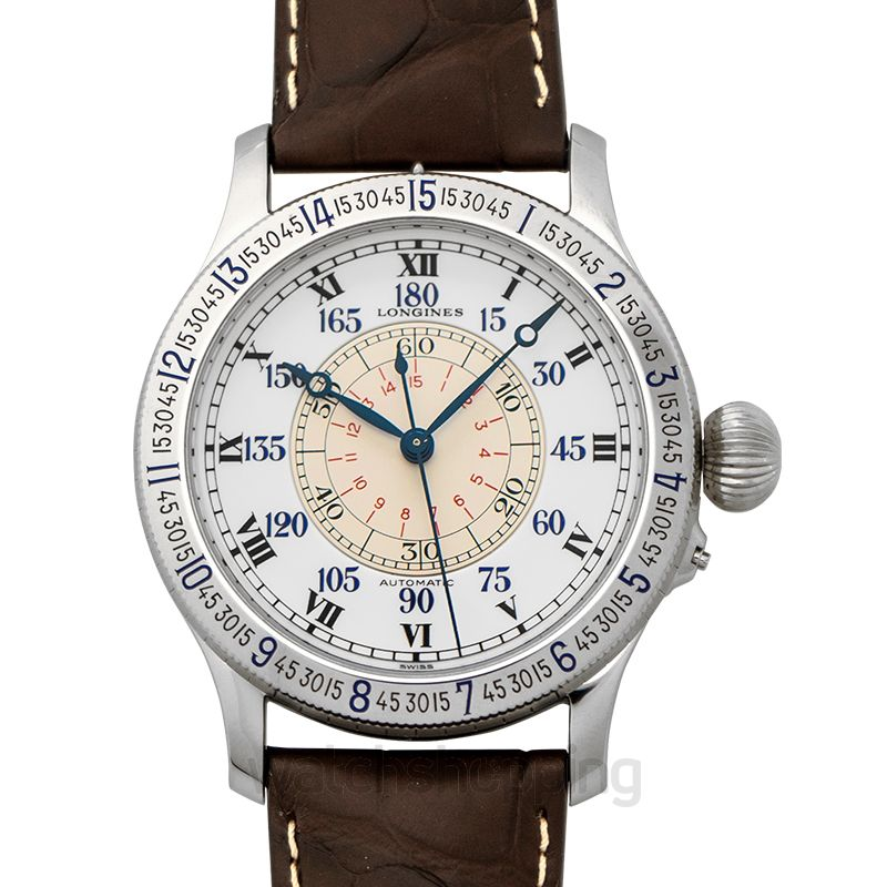 Longines Lindbergh Hour Angle Automatic White Dial Watch