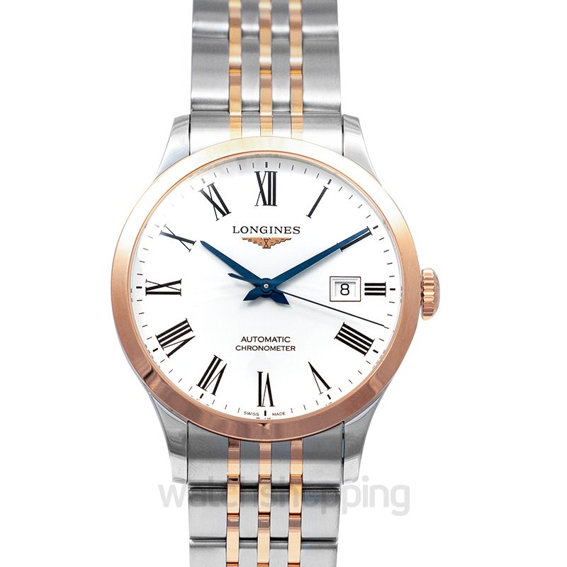 Longines Record Automatic White Dial Men's Watch