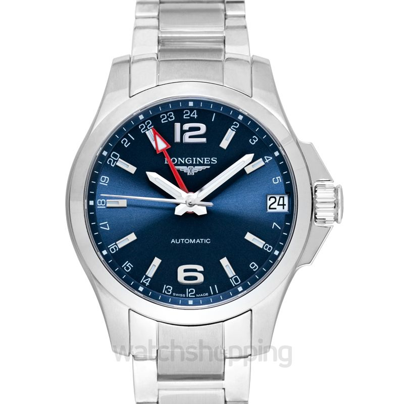957997f16 New Longines Conquest GMT Automatic Blue Dial Men's Watch L36874996 ...