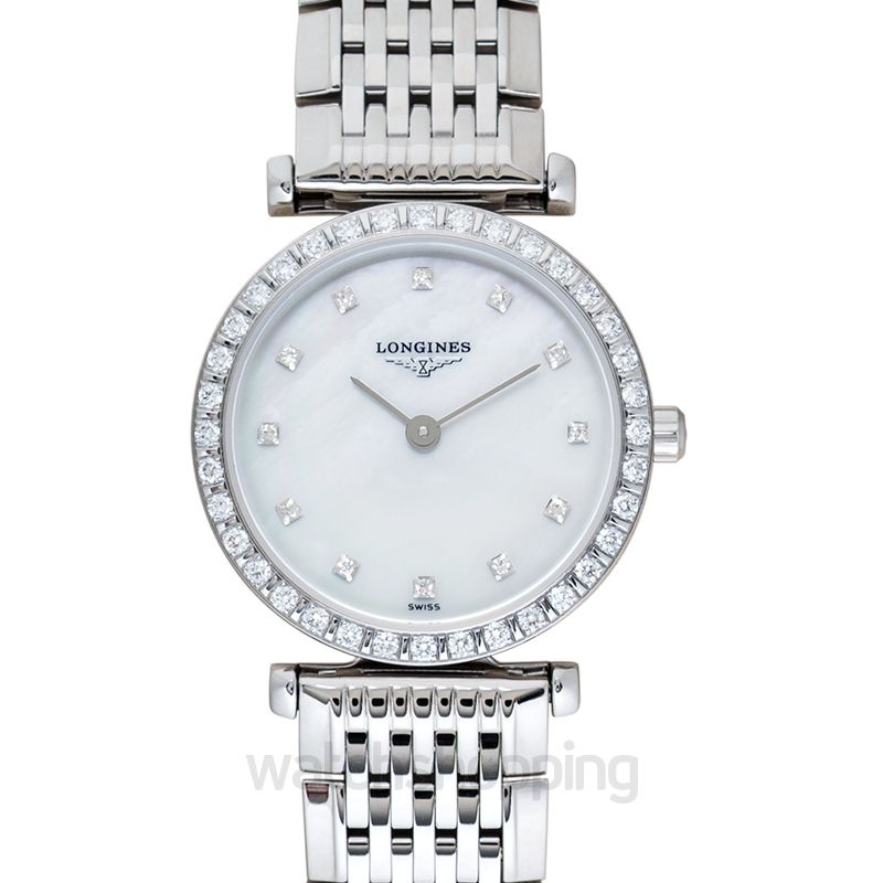 Longines La Grande Classique de Longines Quartz White Mother Of Pearl Dial Diamond Ladies Watch