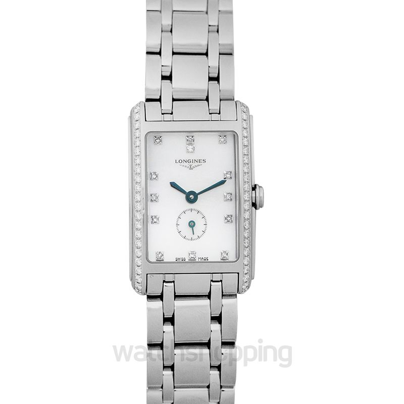 Longines DolceVita Quartz White Mother of Pearl Dial Diamond Ladies Watch
