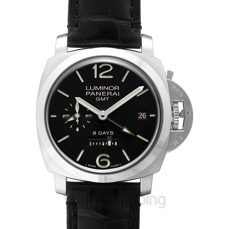 Panerai Luminor 8 Days GMT Manual-winding Black Dial 44 mm Men's Watch