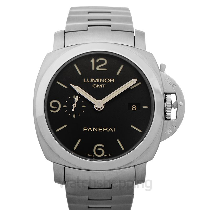 Panerai Luminor 1950 3 Days GMT Automatic Black Dial Men's Watch