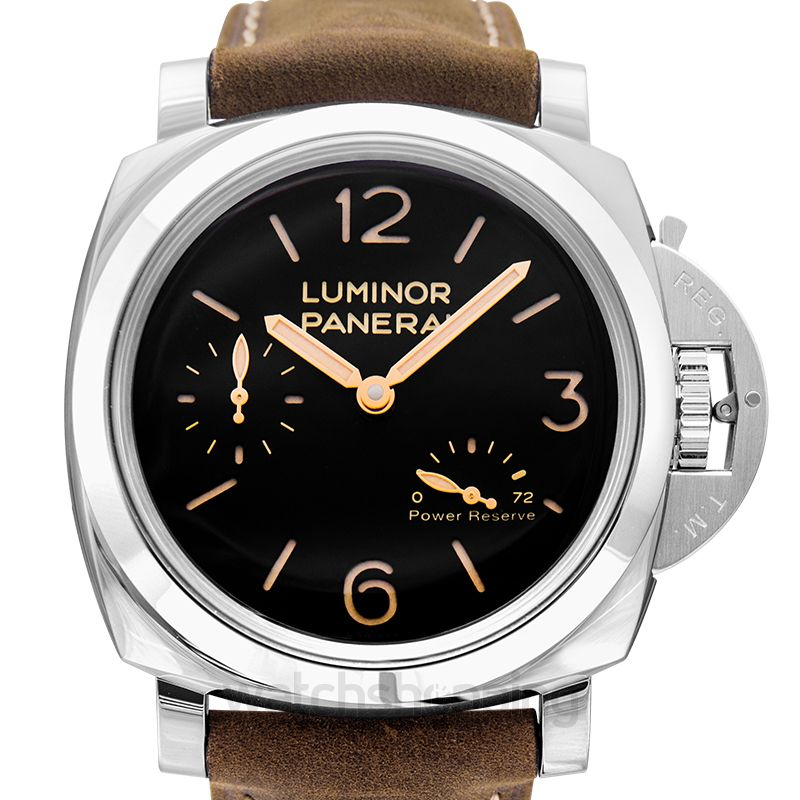 Panerai Luminor Power Reserve Manual-winding Black Dial 47 mm Men's Watch