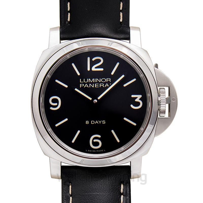 Panerai Luminor Base 8 Days Manual-winding Black Dial 44 mm Men's Watch