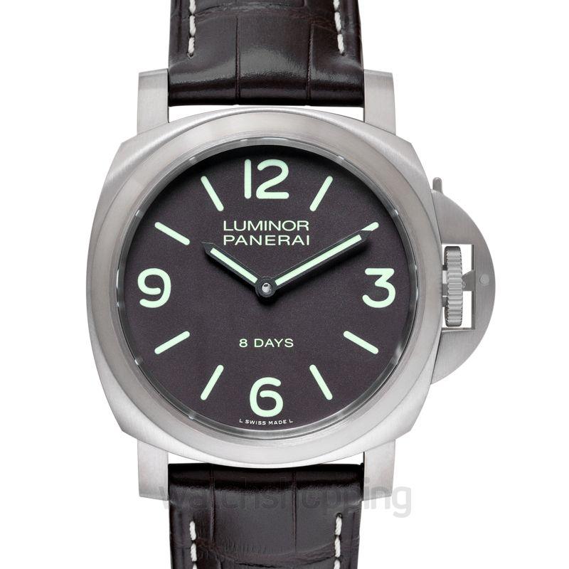 Panerai Luminor Base 8 Days Manual-winding Brown Dial 44 mm Men's Watch