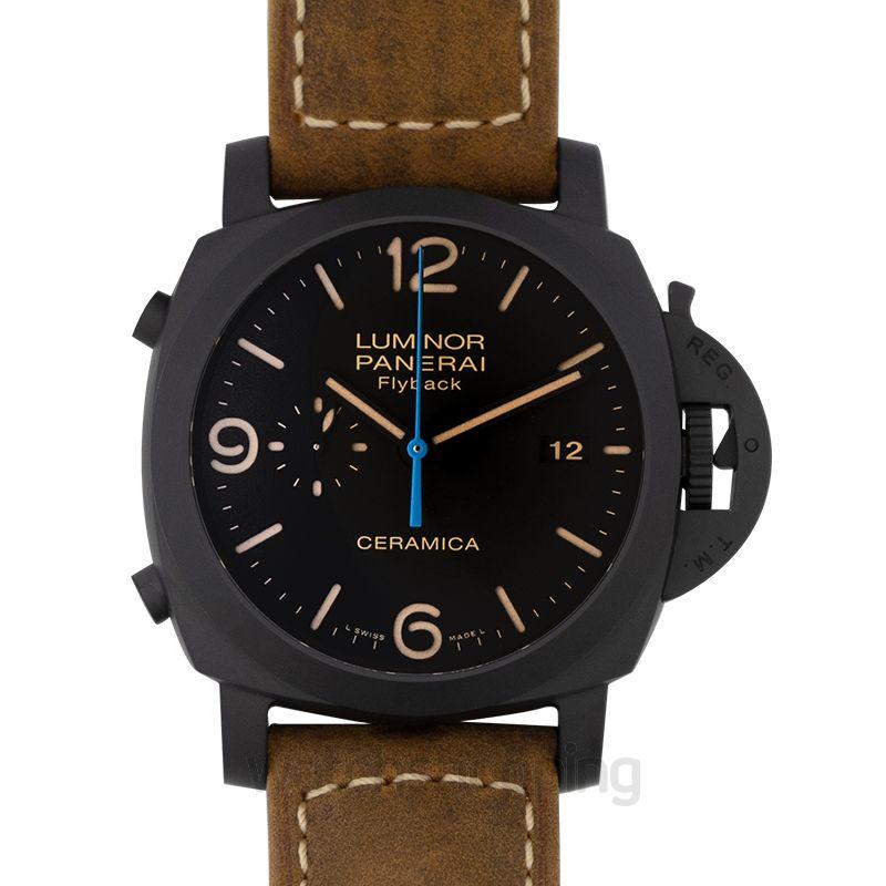 Panerai Luminor Chrono Flyback Automatic Black Dial 44 mm Men's Watch